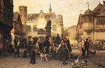 Böttcher, Christian Eduard - Am Marktbrunnen von Bingen - 1870.jpg