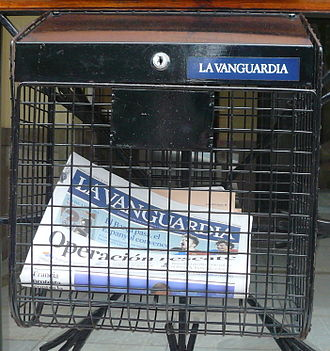 La Vanguardia - La Vanguardia in a post-box