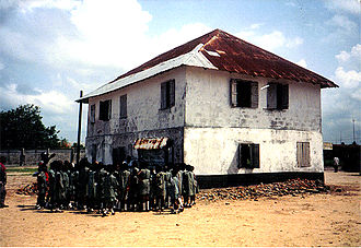 Lagos Colony - The first missionary house in Nigeria at Badagry.