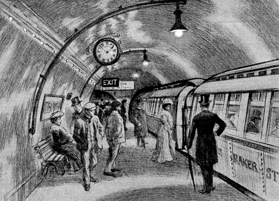 Baker Street Waterloo Railway platform March 1906