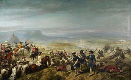 Almansa, April 1707; Bourbon victory was a serious setback for the Allies in Spain. Balaca-Battle of Almansa.jpg