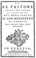 Baldassare Galuppi - Il re pastore - titlepage of the libretto - Venice 1769.png