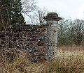Ballochmyle walled gardens, old gate pier, Mauchline, Scotland.jpg