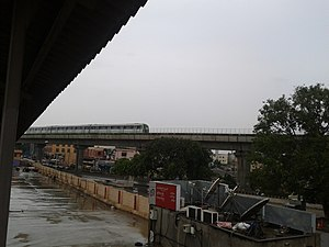 Yeshwanthpur metro station - Image: Bangalore Metro as seen from Yeswantpur Junction