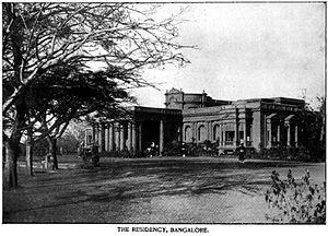 Raj Bhavan (Karnataka) - The Residency around 1895