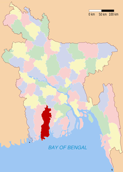 Location of Bagerhat in Bangladesh