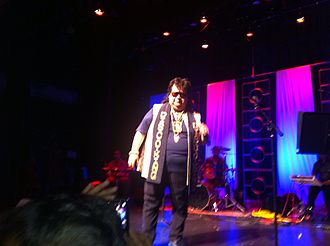 Lahiri performing live on stage in Littleton, Massachusetts, 2012 Bappi Lahiri performing in a function.jpeg
