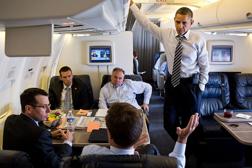 Barack Obama aboard Air Force One, July 13, 2012