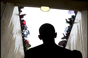 Barack Obama in tunnel at Soccer City.jpg