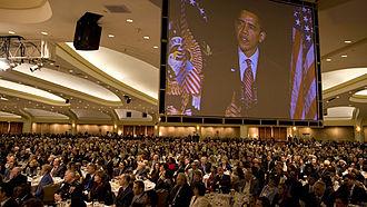 National Prayer Breakfast - Image: Barack Obama speaks at National Prayer Breakfast 2 5 09