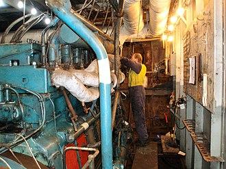 MV Baragoola - Image: Baragoola Internal Engine Room