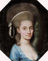 Portret damy w niebieskiej sukni