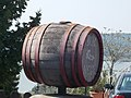 Barrel of Terézia Winery and Belső Lake. - Csokonai St, Tihany,.JPG