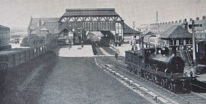 Barrow-in-Furness railway station - Barrow Central from the south about 1910