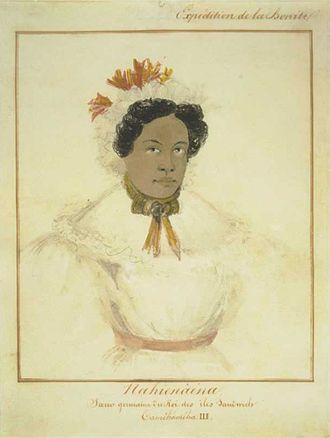 Nahienaena - Image: Barthélémy Lauvergne 'Nahienaena Soeur germaine du Roi des iles Sandwich Tamehameha III', watercolor and ink wash over graphite, 1836
