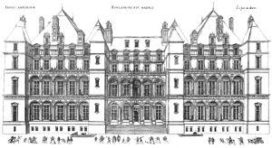 Château de Madrid - The château's front facade, 1576.
