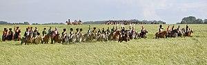 Battle of Waterloo reenactment - French cavalry, June 2011