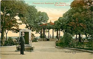 White Point Garden - The bandstand was shown in an early postcard.
