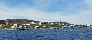 Battle Harbour village in Canada