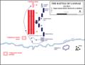 Battle of Cannae, 215 BC - Initial Roman attack ESP.png