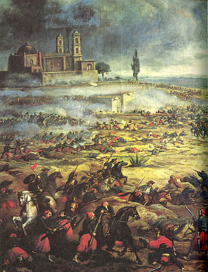 Second Federal Republic of Mexico - Image: Battleof Puebla 2