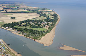Bawdsey Manor - Image: Bawdsey Manor and the mouth of the River Deben aerial 14924955295