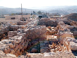 the ruins of Bozrah, the capital of Edom in Bu...