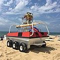 Beach vehicle, 6-wheel-drive (6x7), Seignosse, Aquitaine, France.jpg