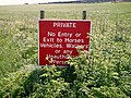 "Beckney Farm - ""Welcome Sign"" on farm track. - geograph.org.uk - 161767.jpg"