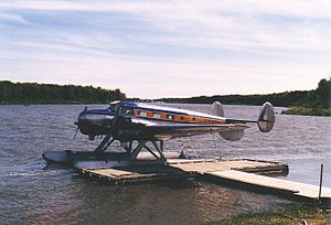 Beechcraft Model 18 - Beech 18 on floats in Manitoba, 1986