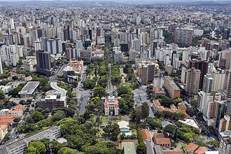 Belo Horizonte - Praça da Liberdade (Liberty Square) and Downtown Belo Horizonte.