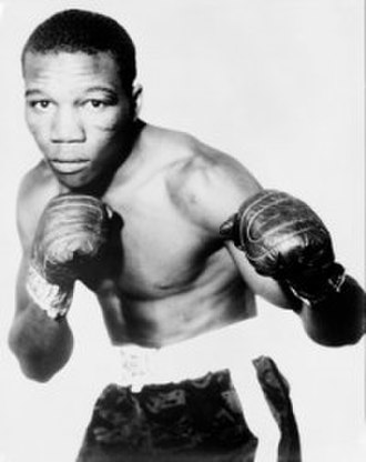 """Benny Paret - Image: Benny """"the kid"""" Paret in fighting pose before his death"""