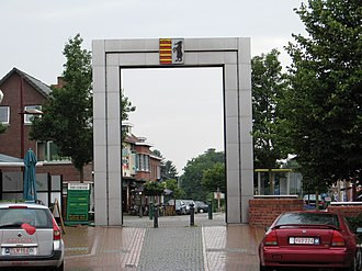 Beringen, Belgium - Image: Beringen Marktplein uitgang Paal