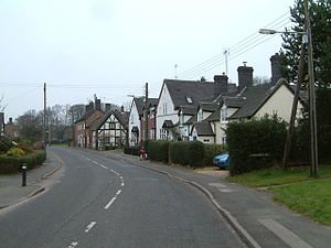 Betley- The main road, looking north, the postmans bike at rest - geograph.org.uk - 147874.jpg
