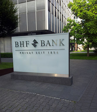 BHF Bank - Sign at the headquarters