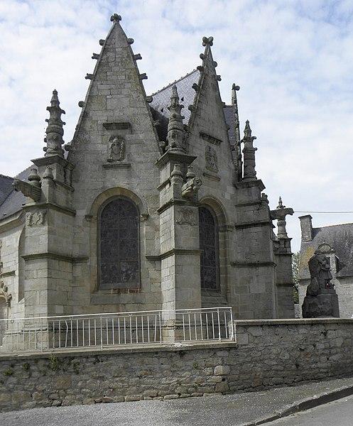 Église Notre-Dame de Bieuzy (56). Chevet de type Beaumanoir.
