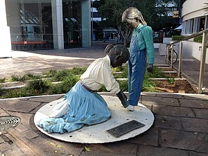 John Seward Johnson II - Big Sister sculpture in Brisbane, Australia