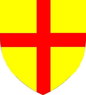 Hugh Bigod, 3rd Earl of Norfolk - Arms of Bigod (dropped post-1269 by Roger Bigod, 5th Earl of Norfolk): Or, a cross gules