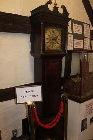 Bilbie family - A Long Case clock by John Bilbie on display at King John's Hunting Lodge, Axbridge