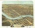 Bird's eye view of the city of Kankakee, Kankakee County, Illinois 1869. LOC 73693358.jpg