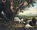 Birds of Prey, Goats and a Wolf, in a Landscape by Philip Reinagle.jpg