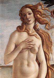 Detail of Bottocelli's Birth of Venus.