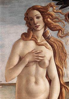 La Naissance de Vénus (détail), par Sandro Botticelli (1645), galerie des Offices