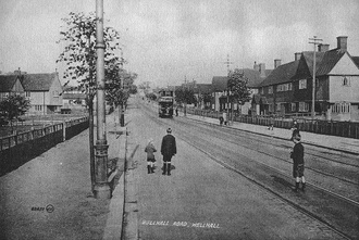 Well Hall - Tram travelling along Well Hall Road, 1912.