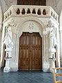 Blendecques (Pas-de-Calais, Fr) église Saint-Colombe (12) porte et tribune.JPG