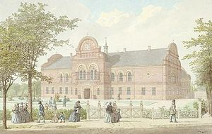 Institute for the Blind, Copenhagen - The Institute for the Blind in 1858, watercolour by H.G.F. Holm