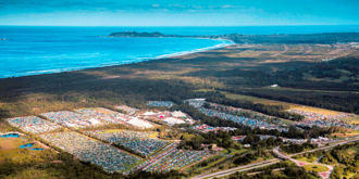 Byron Bay Bluesfest - 2014 festival from above