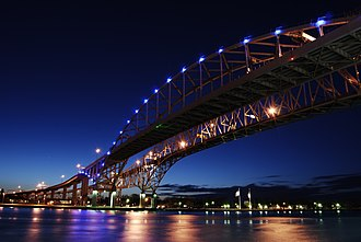 Blue Water Bridge - Blue Water Bridge, newer bridge in foreground