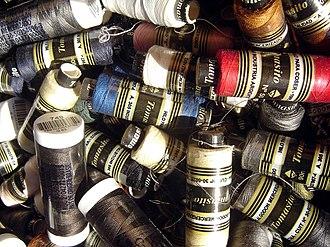 Mercerised cotton - Mercerized cotton yarn reels