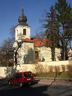 Bohnice Prague CZ SS Peter and Paul church.JPG
